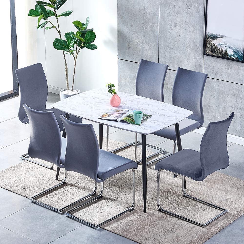 2 Black Leather Chairs+Square Table Modern Kitchen Table and Chair Set Black Glass Dining Table and Set of 2 Faux Leather Chairs for Living Room 3 Pcs Dining Table Chair Set