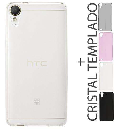7aad3621721 Kit Funda Protectora TPU Transparente De Colores Mas Mica De Cristal HTC  Desire 10 Lifestyle 825: Amazon.com.mx: Electrónicos