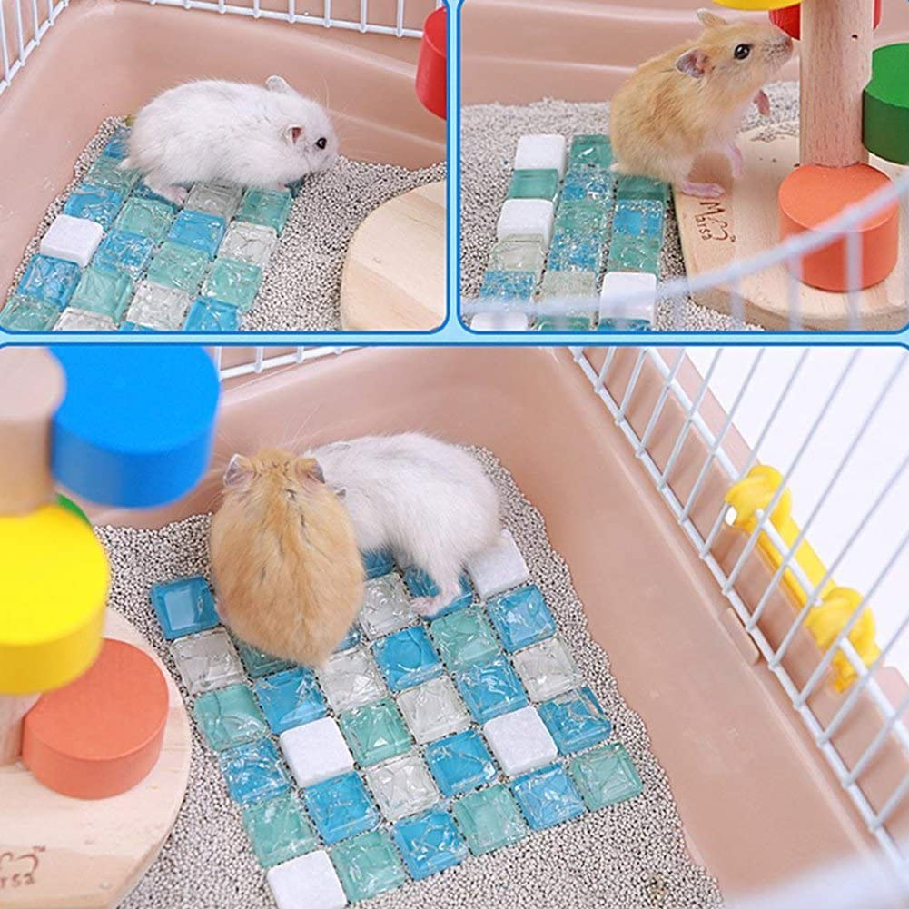 AsyPets Hamster Cooling Stone Mat Ice Pad Summer Small Animal Rabbit Chinchilla Cool Bed House