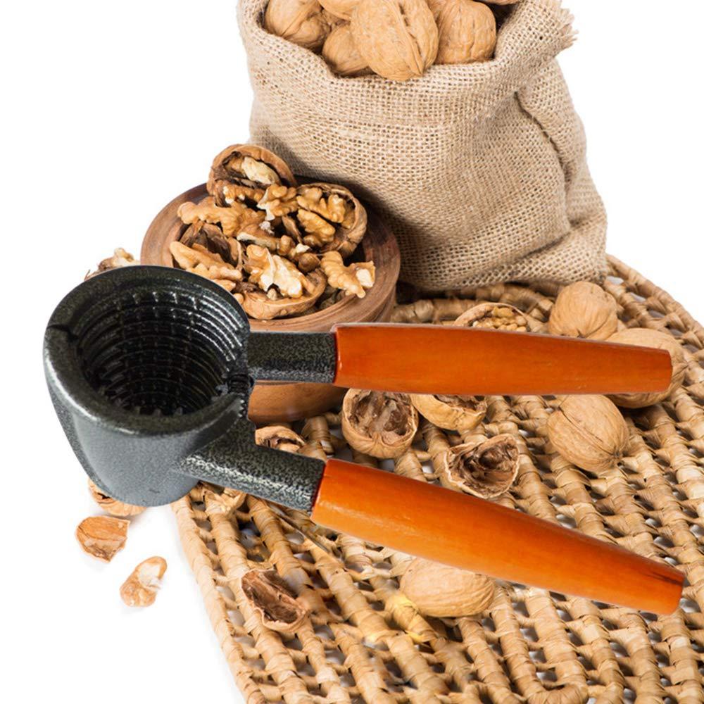 IUwnHceE Holzgriff Aluminiumlegierung Walnut Clip Nussknacker Kitchen Tools D/örrobst Nussknacker Walnuss Klemmzange Clip Nut Sheller Home Use
