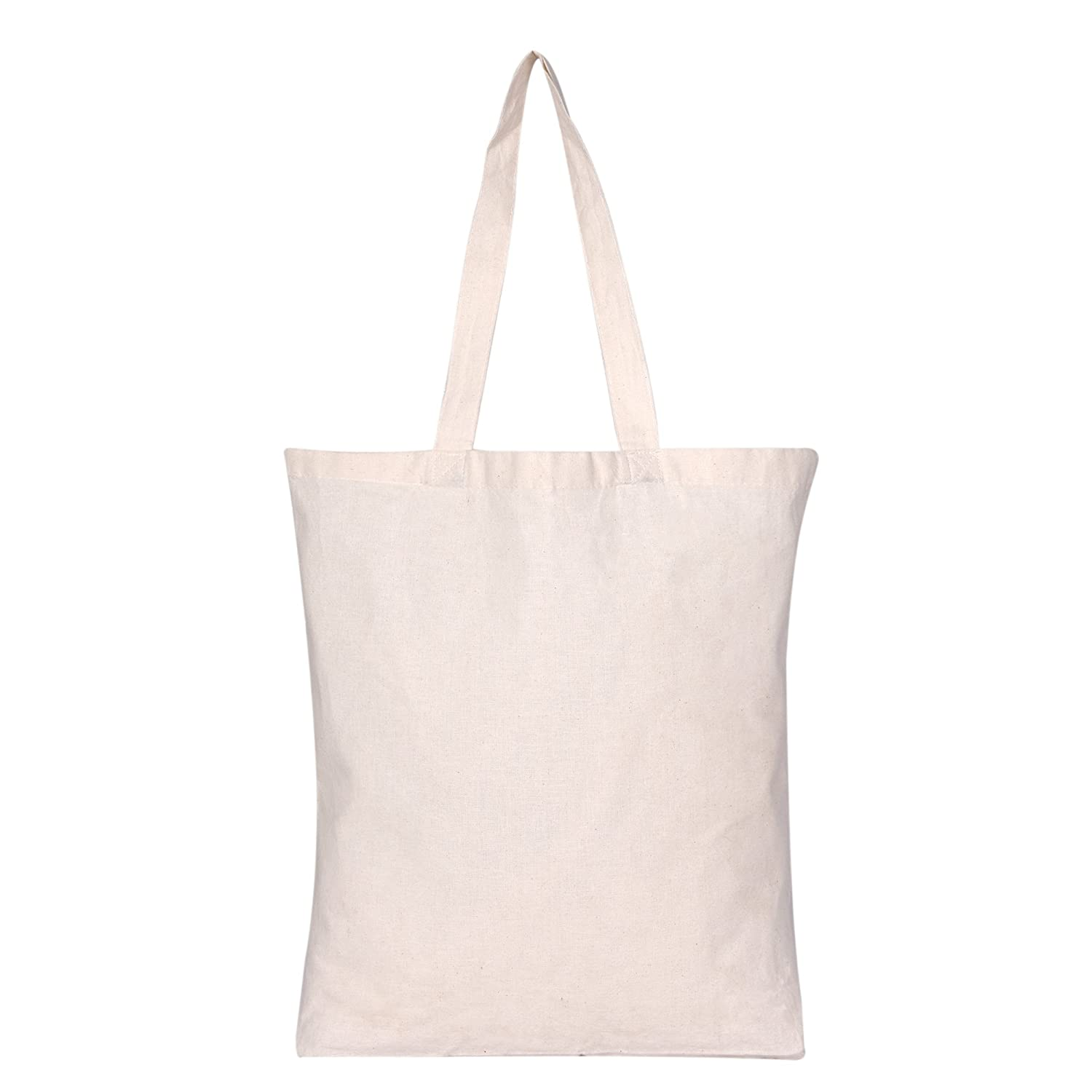 ef8aa48a14 Amazon.com  Set of 20 - Bulk Natural Cotton Canvas Tote Bags with ...