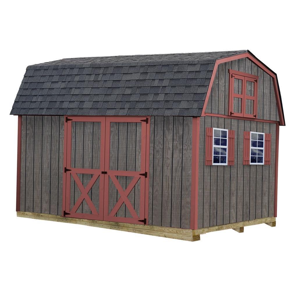 Best、納屋、Meadowbrook 10フィートX 12 ft。木製ストレージShedなど、床キットを4 x 4ランナー B00FY3VIG8