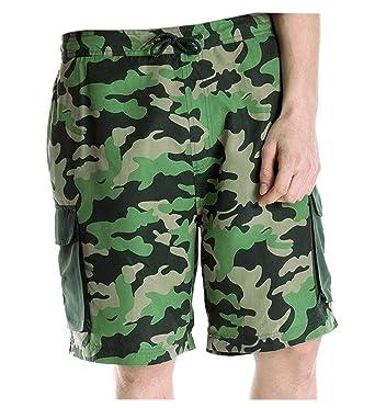462c31f424b0d Boys Camo Swim Shorts with Mesh Lining and Elasticated Waist: Amazon.co.uk:  Clothing
