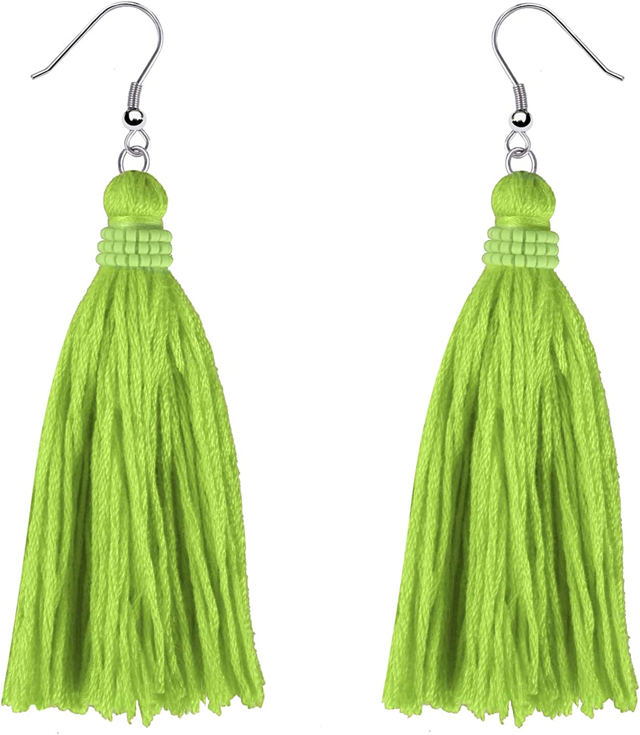 KELITCH Tassel Earrings Bohemian Tiered Thread Tassel Dangle Earring for Women Girls