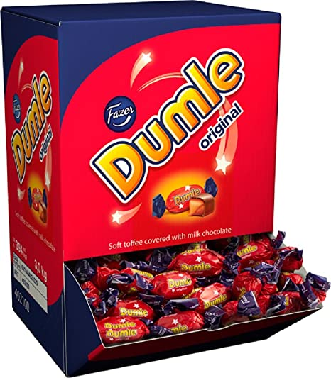 Fazer Dumle Original - Milk Chocolate with Soft Toffee filling - Huge Gift Box