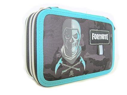 Fortnite - Estuche escolar con 3 cremalleras, color azul ...