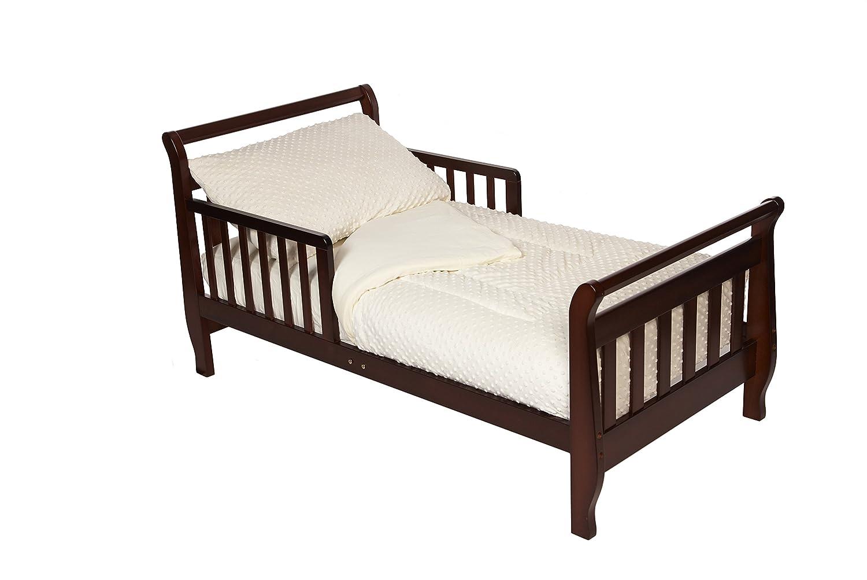 American Baby Company 1440SS-BL Minky Dot Chenille Toddler Bedding Set, 4-Piece (Blue) 1440SS Blue