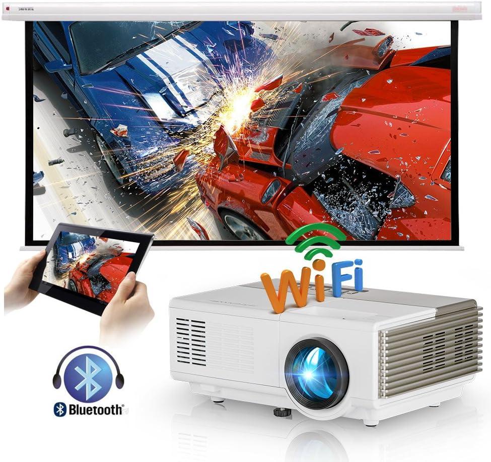 Mini proyector inalámbrico portátil con Bluetooth HDMI WiFi ...