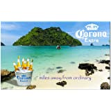 Corona Tropical Beach with Bucket of Bottles Traditional Flag