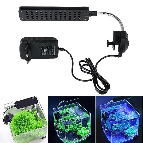 UEETEK Alta potencia 48-LED 3-modo conmutación pecera acuario LED lámpara con el