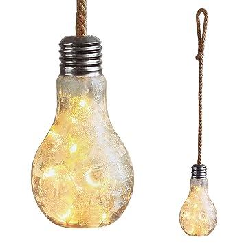 Mojawo XXL Bombilla LED Deko lámpara Vidrio Satinado con ...