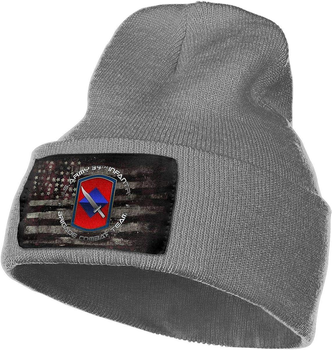 39th Infantry Brigade SSI Mens Beanie Cap Skull Cap Winter Warm Knitting Hats.