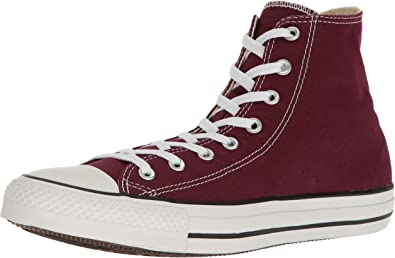 Aburrir Tortuga tiempo  Amazon.com | Converse 139784F Men Chuck Taylor All Star HI Burgundy |  Fashion Sneakers
