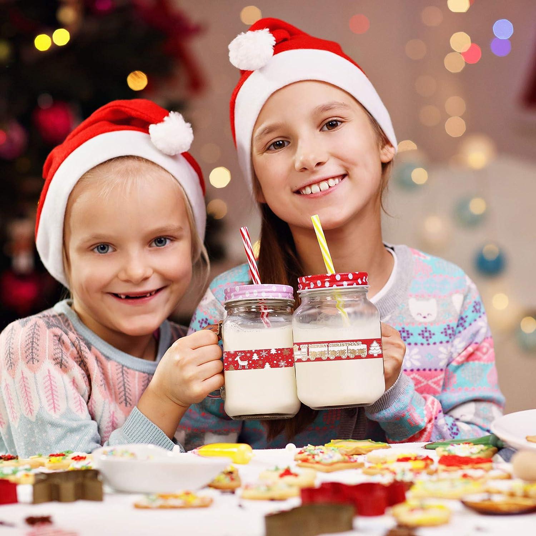 Washi Tape Set,12 Rollen Weihnachten Washi Tape Set Masking Tape Dekoratives Klebeband Weihnachten Dekorativer Klebstoff Washi Masking Tape dekorative Washi Tape f/ür Weihnachten Weihnachtsdekorationen