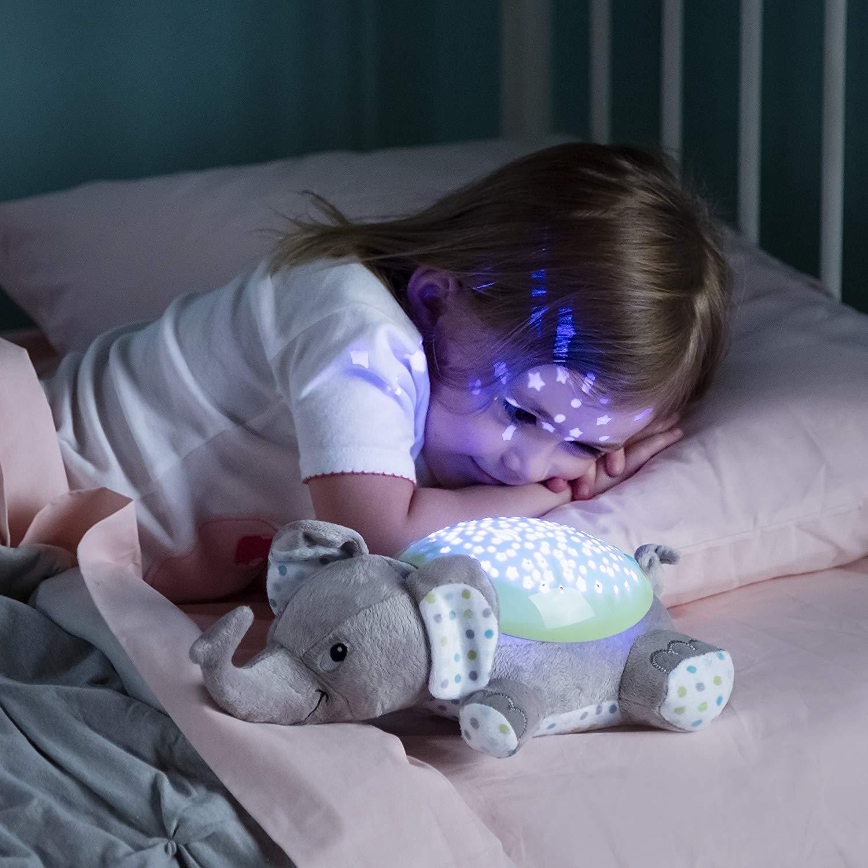 projector elephant Geeignet f/ür Neugeborene Funky Planet Babyprojektor mit Melodien Elefant Pl/üsch Nachtlicht