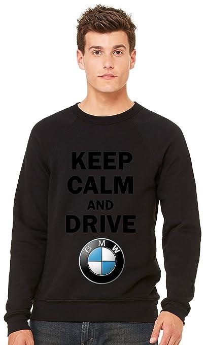 Keep Calm And Drive BMW Unisex Crewneck-Sudadera negro large: Amazon.es: Ropa y accesorios