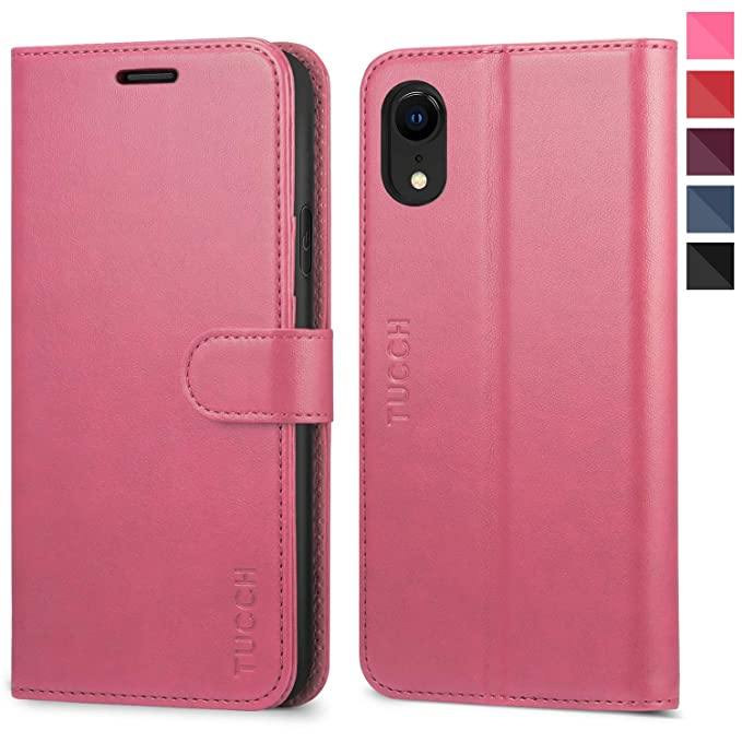 iphone xr flip case leather