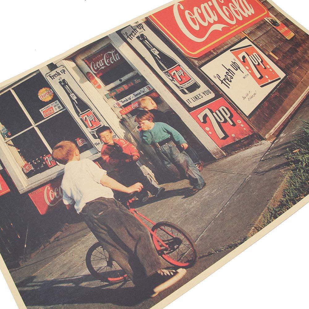 jiushice Cartel Retro American Street Shop Poster Vintage ...