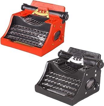 LUCKFY Máquina de Escribir de la Vendimia Modelo, Negro y ...