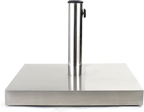 Christopher Knight Home Similan 66lb Stainless Steel Square Umbrella Base, Stainless Steel