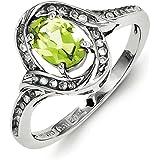 En argent Sterling et péridot-Diamant-Taille 54 JewelryWeb - 1/2