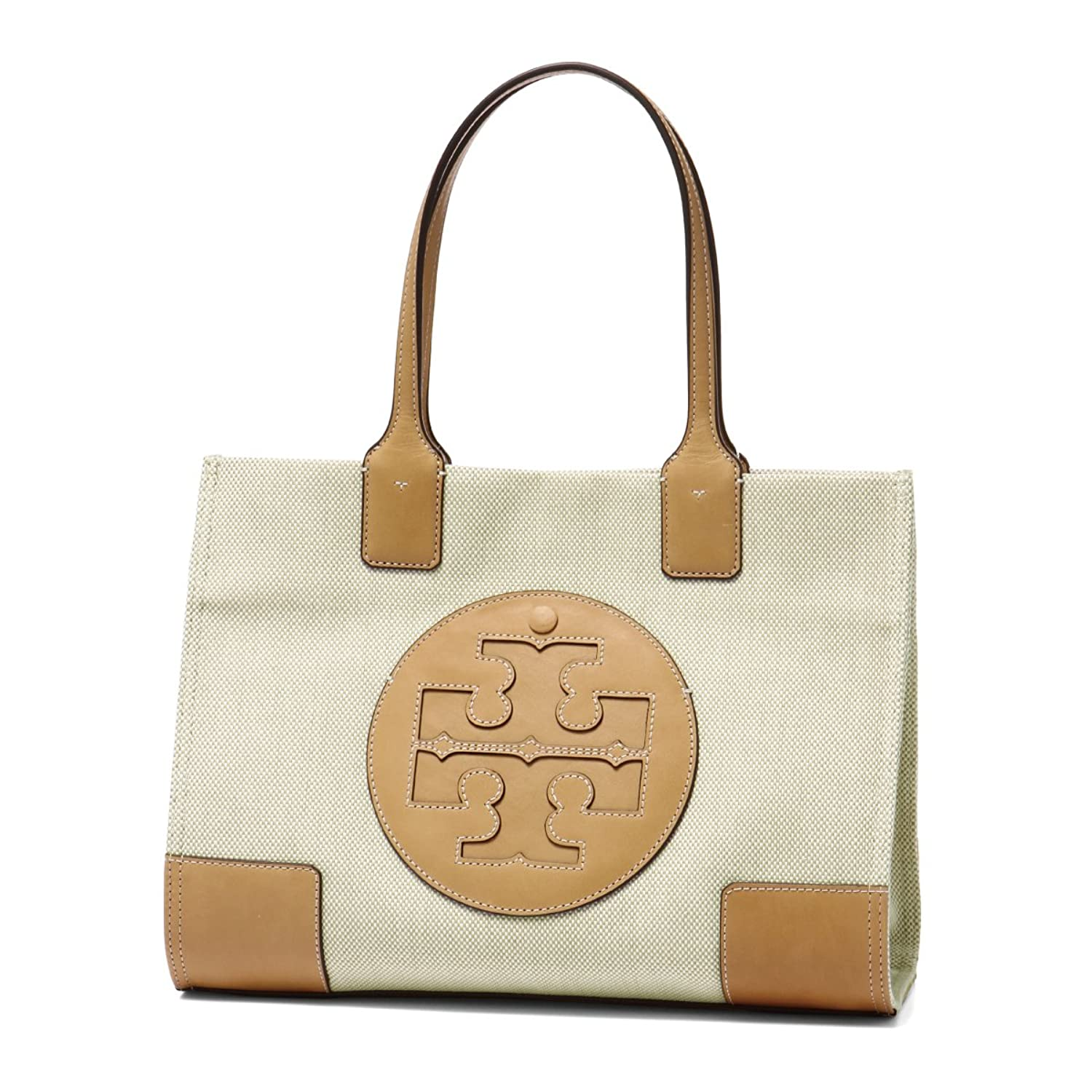 TORY BURCH TOB18S MINI ELLA CANVAS TOTE 45208/285NA-IV/81 ベージュ/ホワイト B07BMKXNQ7