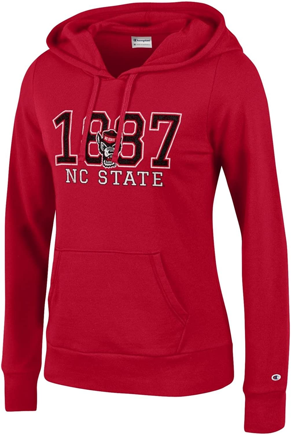 Champion NCAA womens Ncaa Womens Comfy Fitted University Fleece Hoodie