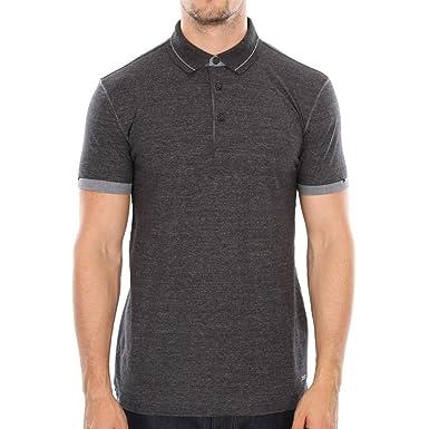 Boss Orange Herren Poloshirt Patcherman 2, Einfarbig, Gr. Large, Schwarz ( Black