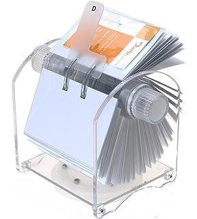 Genie - Soporte rotatorio para tarjetas (para 400 tarjetas de visita, 24 separadores,