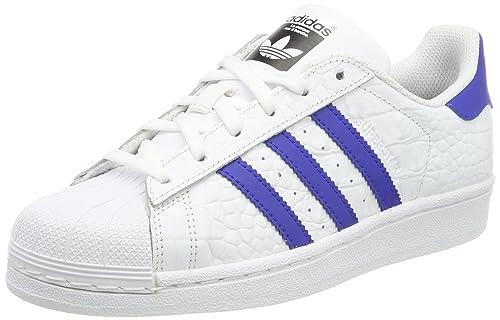 on sale 1e23f 37e49 adidas Originals Mens Superstar Trainers, (Footwear White Bold Blue), 7 UK  40.5