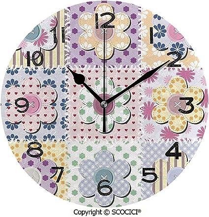 L.Fenn Imprimir Reloj De Pared Redondo, Artes Y Manualidades Tema ...