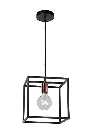 Lucide Arthur - Lámpara de techo, color negro: Amazon.es ...