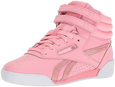 cf91161317127 Reebok Unisex F S Hi Spring Cross Trainer Pink White 1 M US Little
