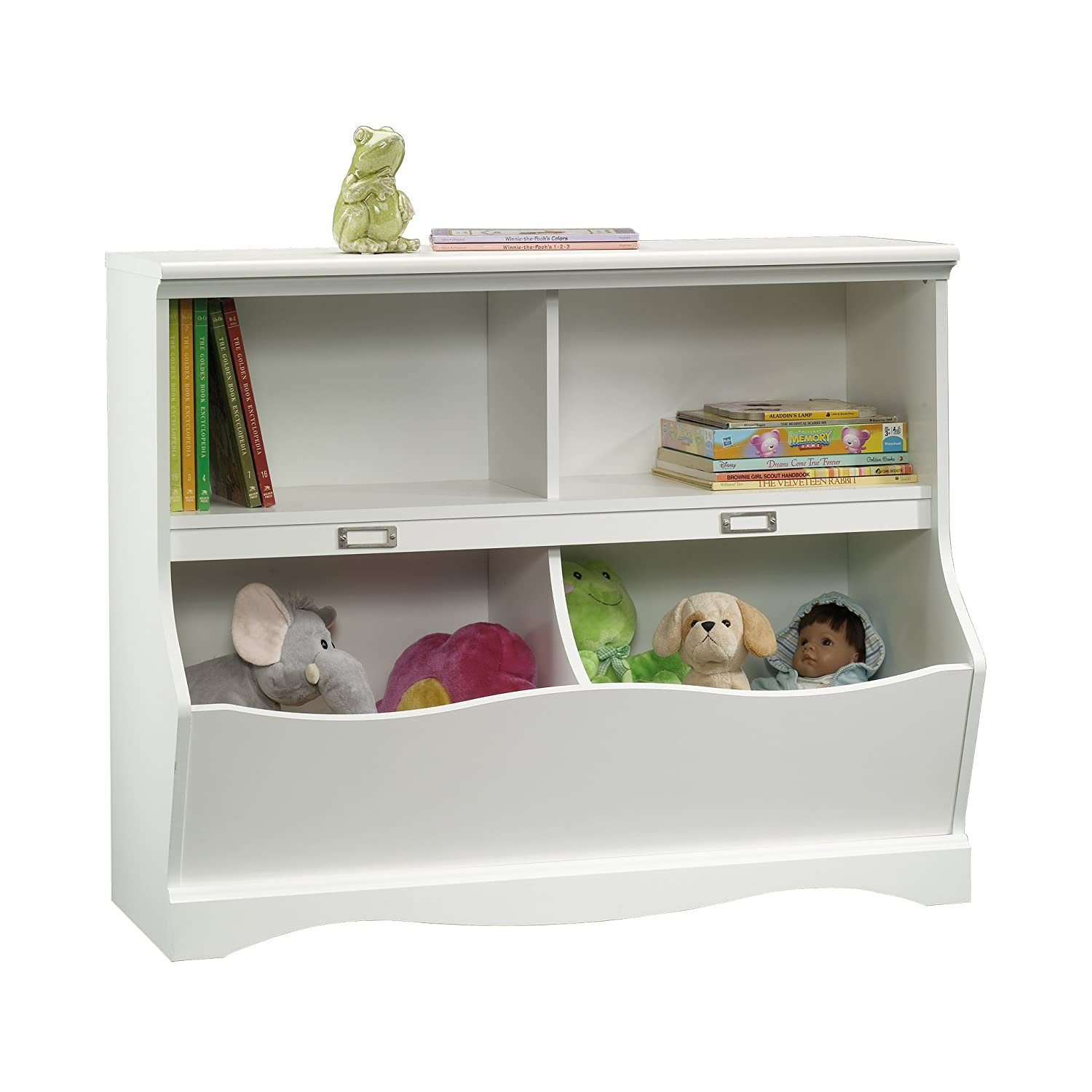 "Sauder 414436 Pogo Bookcase/Footboard, L: 41.10"" x W: 14.49"" x H: 32.84"", Soft White finish"