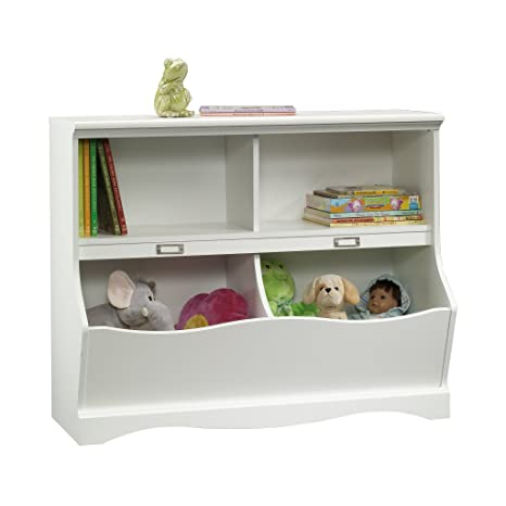 "Sauder 414436 Pogo Bookcase/Footboard, L: 41.10\"" X W: 14.49\"" X H: 32.84\"", Soft White by Sauder"