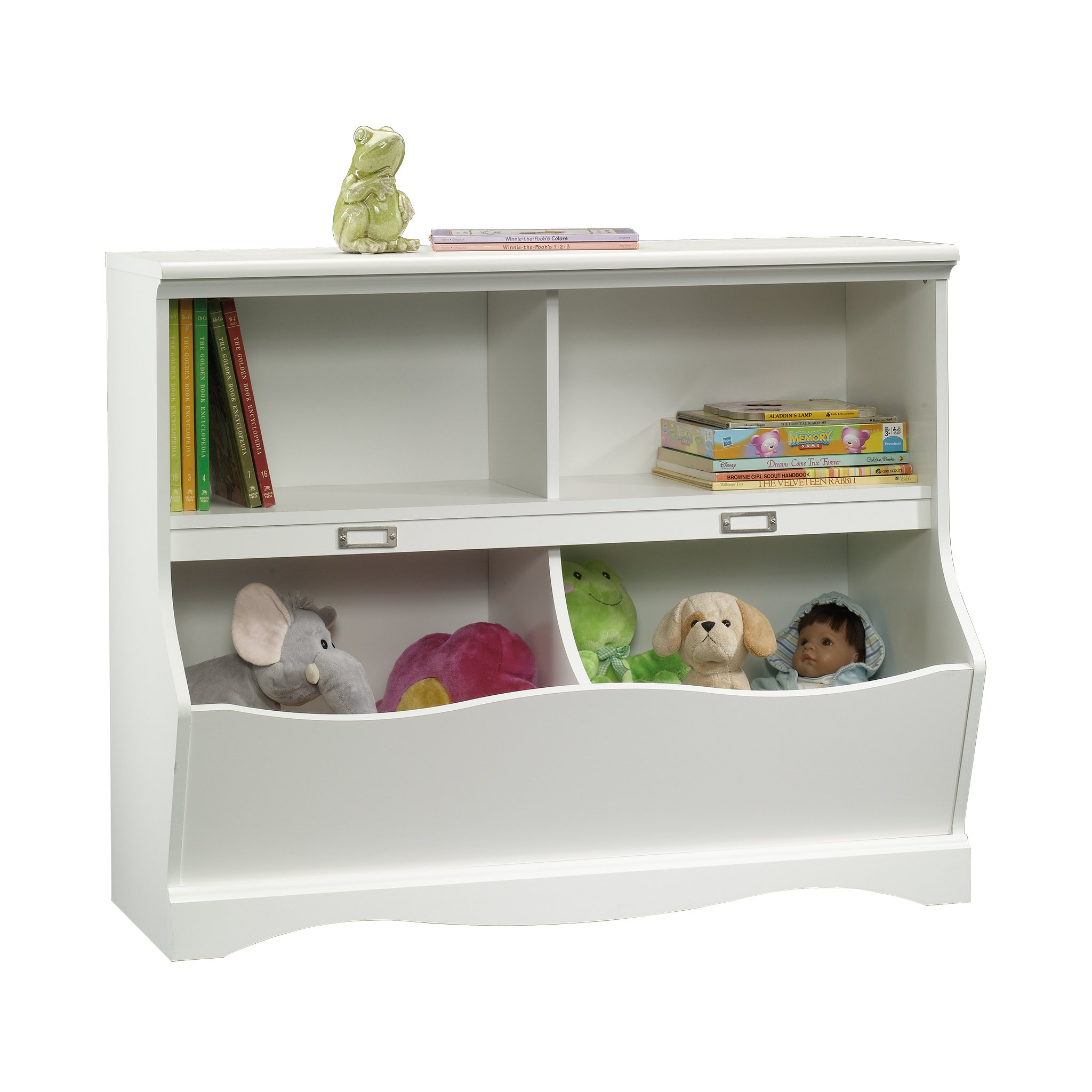 Sauder 414436 Pogo Bookcase/footboard, L: 41.10'' x W: 14.49'' x H: 32.84'', Soft White