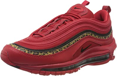 Nike Women's Air Max 97 University RedBlackPrint Leather Casual Shoes 7.5 M US
