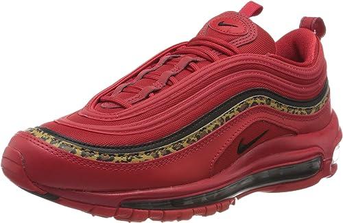 Nike Air Max 97 University - Zapatos informales de piel para mujer (7.5 M),  color rojo y negro