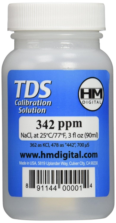 HM Digital C342 TDS and EC Calibration Solution, 342 ppm (NaCl), 90 ml Volume Inc. C-342