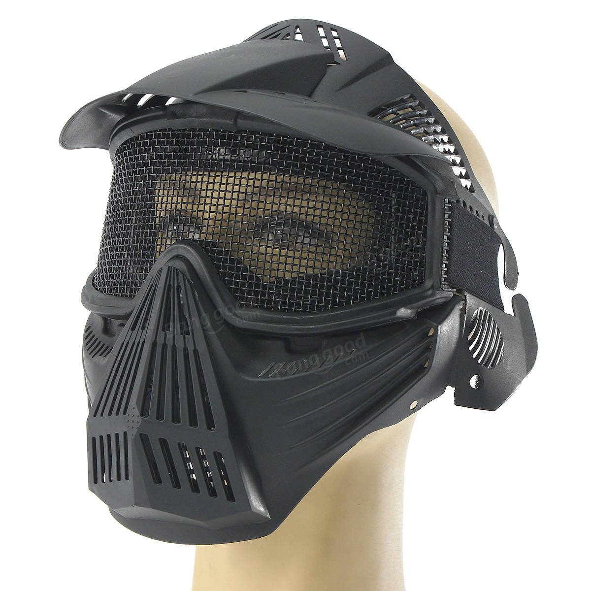 Complete Confront Cloak - Tactical Pro Mask Safety Metal Goggle Protection - Brimming Facial Expression Block Total Imbued Look Overflowing Fount Stentorian Flooded Plangent - 1PCs