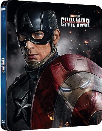 Amazon Com Captain America Civil War Blu Ray 3d Steelbook Region