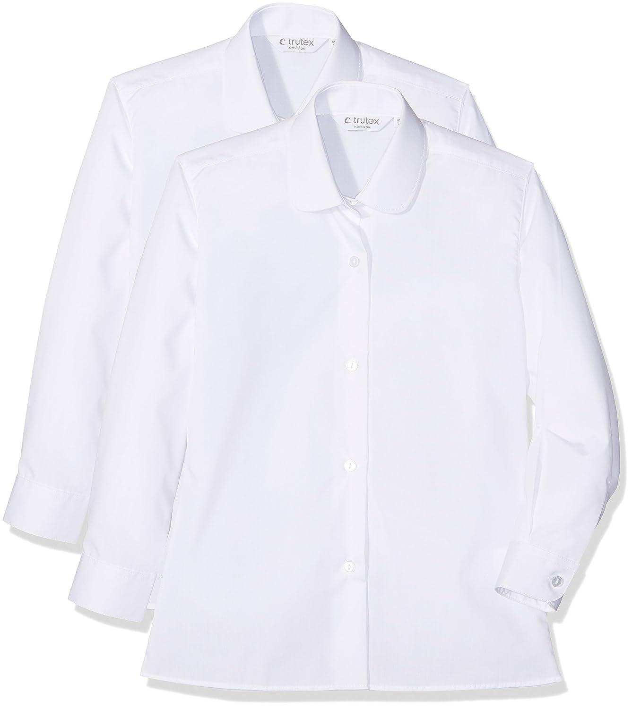 Trutex TBK-WHT-24, Camicia Bambina, (Pacco da 2)