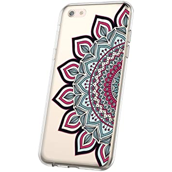 JAWSEU Transparente Funda Compatible con iPhone 6 Plus/6S ...
