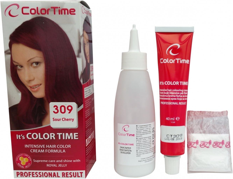 Color time, tinte en crema para el cabello de color cereza ...