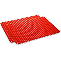 """Silicone Baking Mat, 2 Pcs Holoko Non-Stick Cooking Mats, Oil Drain and Pyramid Design for Turkey,Pizza and Cookie Sheet - 16"""" x 11.5"""""""