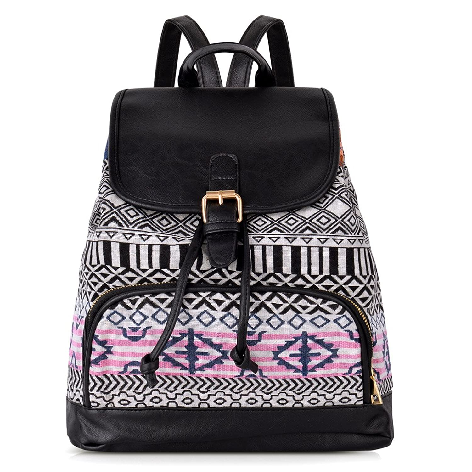 Vbiger Canvas Backpack For Women Girls Boys Casual Book Bag Sports Daypack