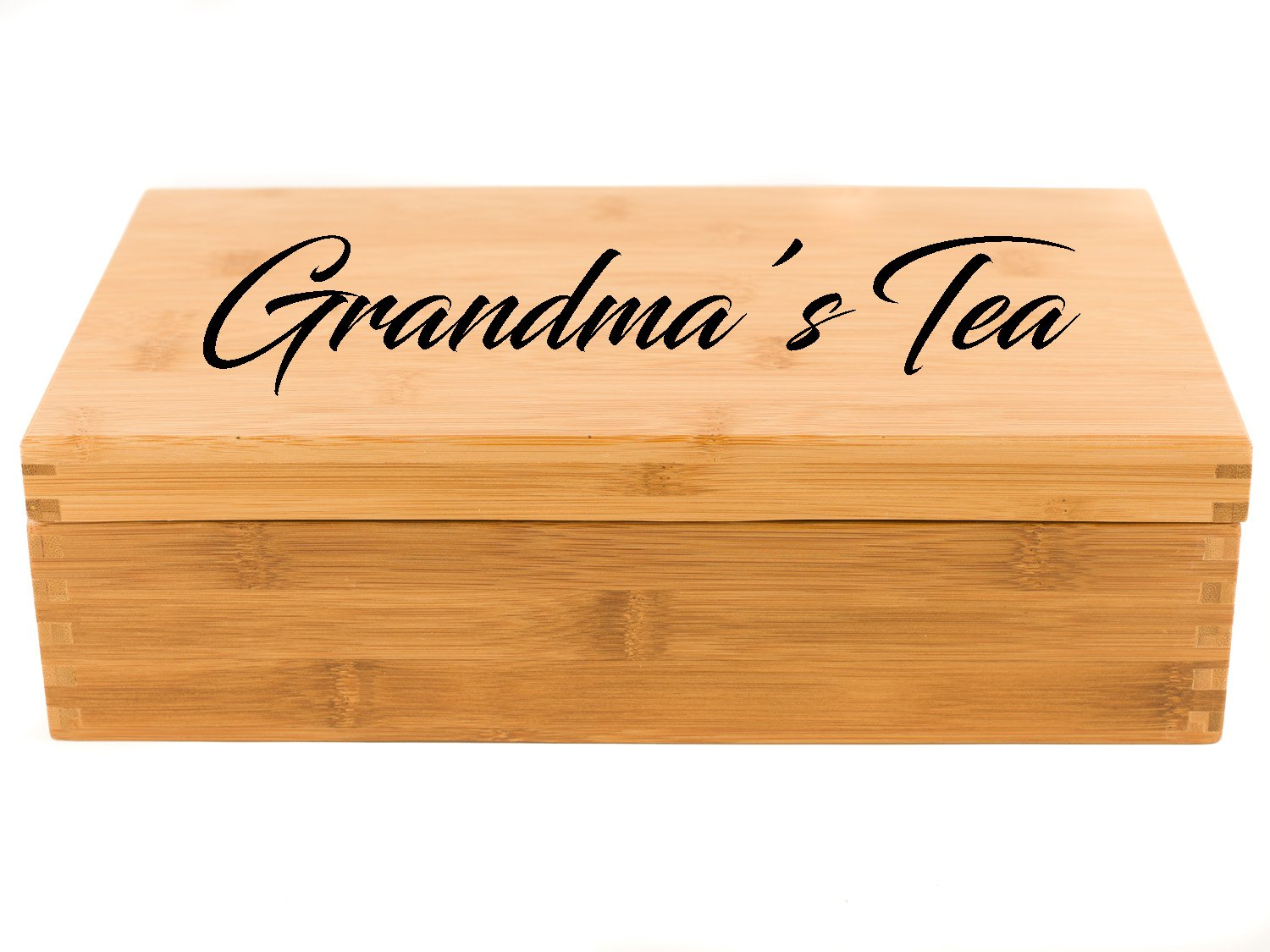 Personalized Tea Box | Tea Storage Chest (Large (8-Section)) by Sofia's Findings