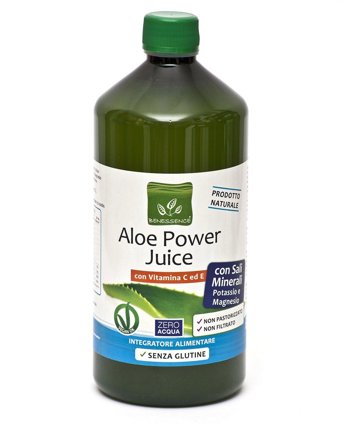 ALOE POWER JUICE - sales minerales con potasio y magnesio con la vitamina C y E 1000 ml - PRODUCTO ITALIANO: Amazon.es: Salud y cuidado personal