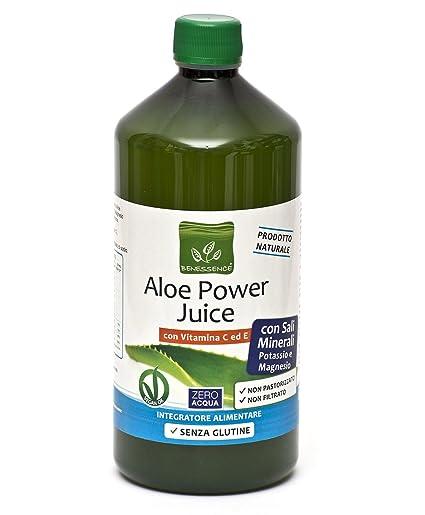ALOE POWER JUICE - sales minerales con potasio y magnesio con la vitamina C y E
