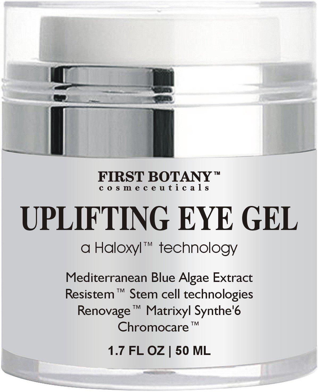 Anti aging Best Eye Cream : Eye Gel with Mediterranean Blue Algae Extract, Resistem, Chromocare, Renovage & Matrixylsynthe 6 - the best Formula 1.7 oz FIRST BOTANY COSMECEUTICALS